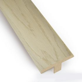 T-Bar/ Door Bar PCA White - Smoked Oak