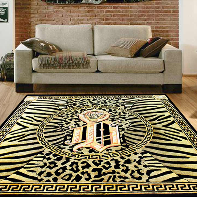 Gold and Black Centre Circle Animal Print