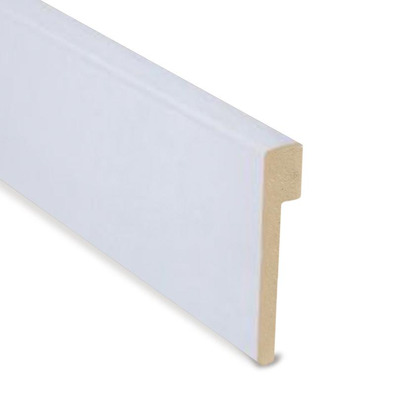 L Cover White Foiled Skirting 100mm