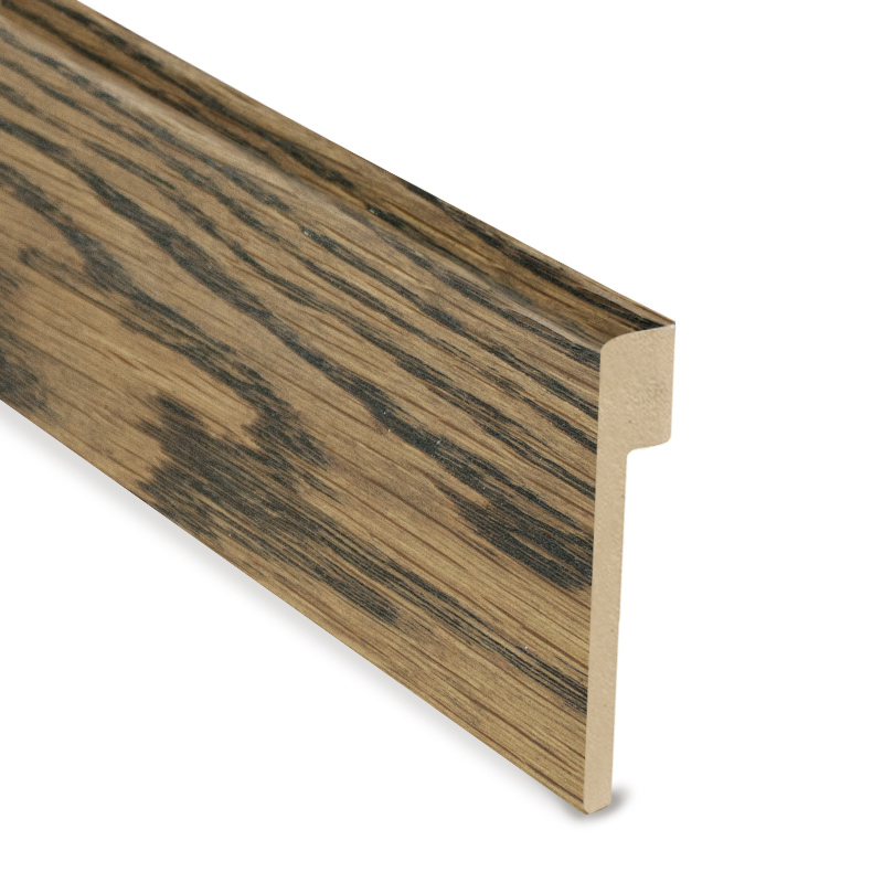 L Cover Skirting- Oak Stained Walnut
