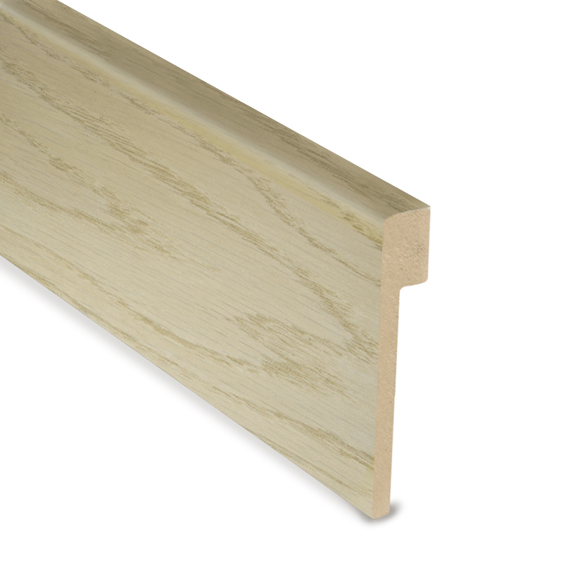 L Cover Skirting - PCA White - Smoked Oak