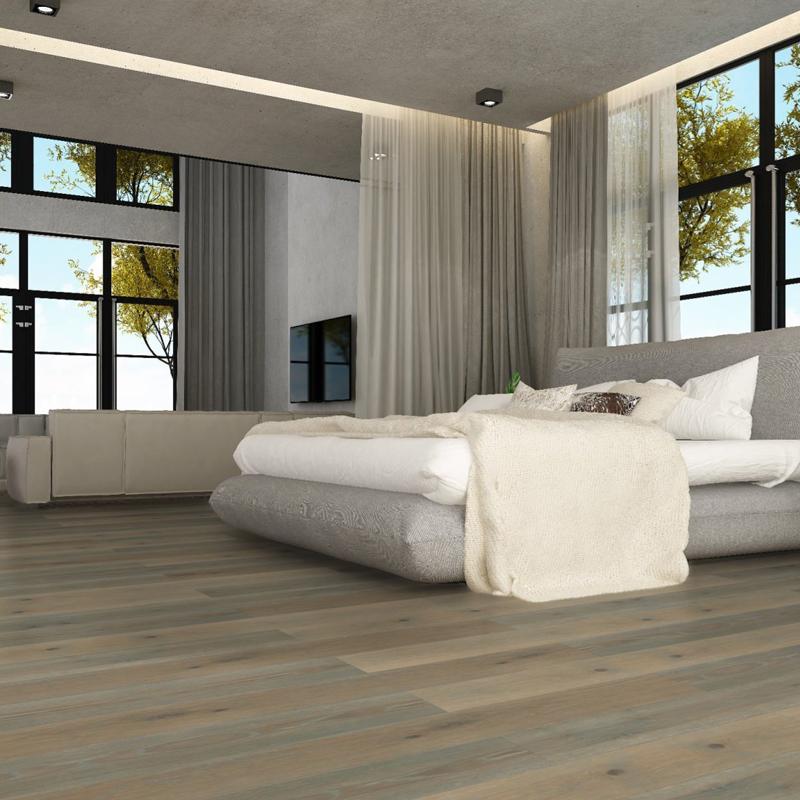 PCE Intense Grey - White (European Oak - Single Strip)
